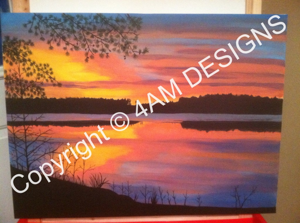 Final Painted Picture of Lake Scene!