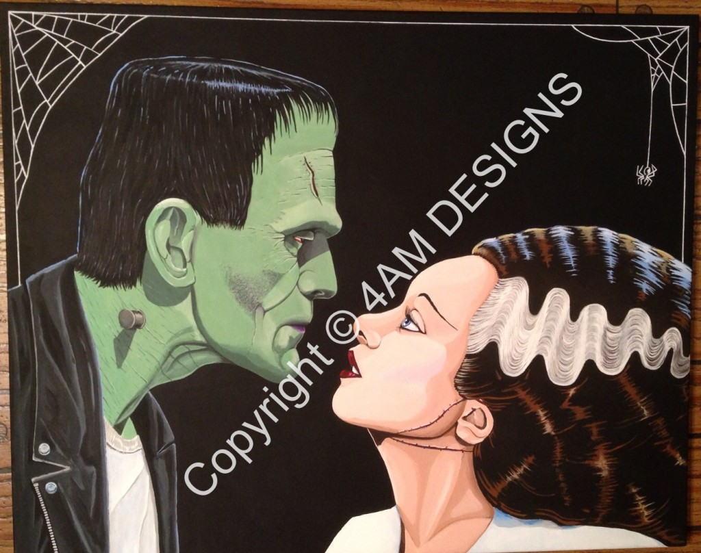 Frankenstein & his bride - $200.00