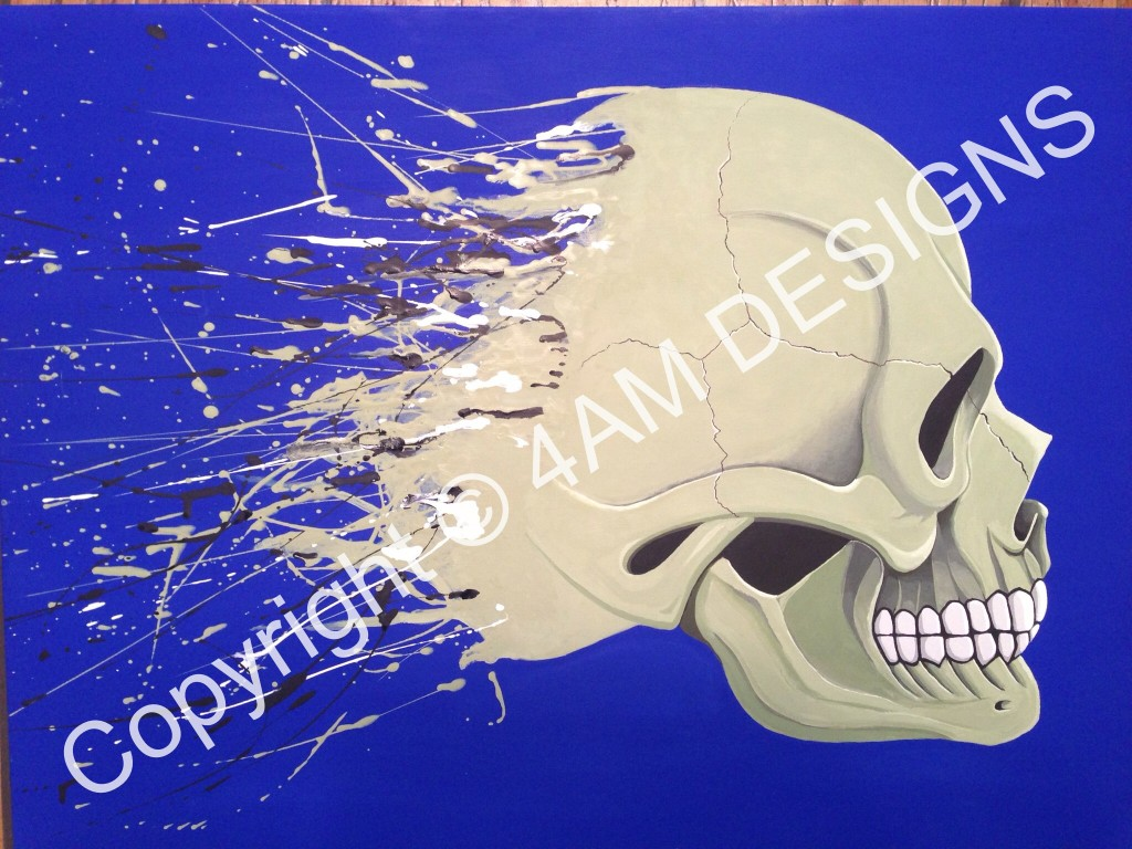 Abstract Skull 18x24 Acrylic Wrapped $150
